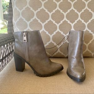 Pewter pointed toe boots